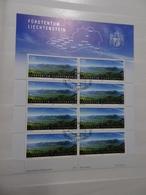 Liechtenstein Michel 1460 Gestempelt Kleinbogen Landschaft (5699) - Blocks & Kleinbögen