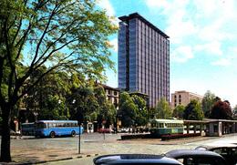 TORINO - Piazza XVIII Dicembre  E Nuovo Grattacielo RAI - Filobus - Bus / Autobus - 1966 - Altri Monumenti, Edifici