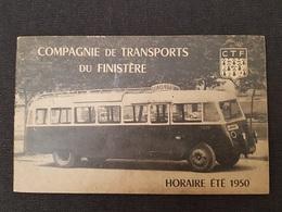 FASCICULE TOURISTIQUE - Cie TRANSPORTS Du FINISTERE - Horaires Lignes - Nbreuses PUB - 1950 - 16 Pages - - Tourism