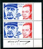 Thème Général De Gaulle - Nouvelle-Calédonie Yvert 1054 Neuf Xxx Paire Avec Signature - T 730 - De Gaulle (Général)