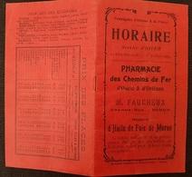 FASCICULE TOURISTIQUE - Cie D'ORLEANS & De L'OUEST - Au Départ De REDON - Horaires Lignes - Nbreuses PUB - 1908-09 - Tourism