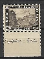 """OCB Nr 266 Orval MNH !!! Bladboord - Bord De Feuille  """" Zegelfabriek - Mechelen """" - 1918 Croix-Rouge"""