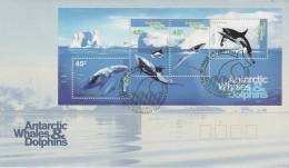 AAT 1995 Whales & Dolphins MS  FDC - FDC