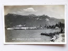 SUISSE / SCHWEIZ / SWITZERLAND, AK 1932, LE BOUVERET Et Les Alpes Vaudoises, Dampfschiff SIMPLON, AK Nicht Gelaufen - VS Valais
