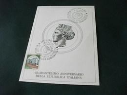 IMOLA 40° ANNIVERSARIO DELLA REPUBBLICA ITALIANA 1986 - Imola