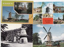 12 VERSCHILLENDE MOLENS. - Postcards
