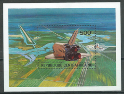 Centrafricaine Rép. Bloc-feuillet YT N°46 Conquete De L'espace Navette Spatiale Neuf/charnière * - Centrafricaine (République)