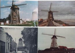 12 VERSCHILLENDE MOLENS.FOTOKAARTEN - Postcards