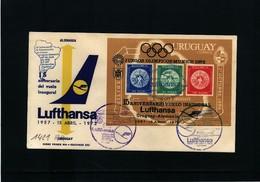Uruguay 1972 15 Years Of Lufthansa Flight Uruguay - Germany  Interesting Cover - Uruguay