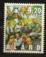 Finlande Aland 1998 N° 141 ** Europa, Festivals Nationaux, Fête, Saint-Jean, Musique, Violon, Danse, Accordéon, Bouleau - Aland