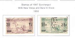 Siria Po 1950 Stamps 1947 Surch.New Value  Scott.356+357 See Scan On Scott.Page - Siria