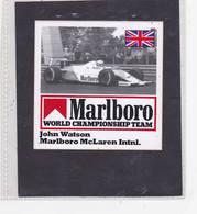 Sticker Marlboro John Watson Mc Laren - Automobile - F1