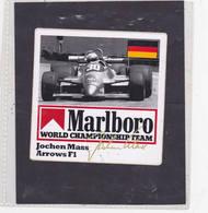 Sticker Marlboro Jochen Mass - Arrows F1 - Car Racing - F1
