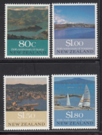New Zealand 1990 MNH Scott #993-#996 Akaroa Harbour, Durie Hill, Mt. Victoria, Rangitoto Island - Nuovi