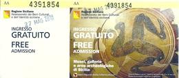 """Biglietto D'ingresso  """" VISITA TEMPLI E MUSEO DI AGRIGENTO"""" - Munito Di Tagliando - Anno 2018. - Tickets D'entrée"""