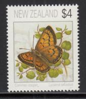 New Zealand 1995 MNH Scott #1078 $4 Common Copper Butterfly - Nuovi