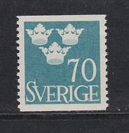 SCHWEDEN SWEDEN SUEDE 1949  MI 355 MNH DREI KRONEN THREE CROWNS TROIS COURONNES - Ungebraucht
