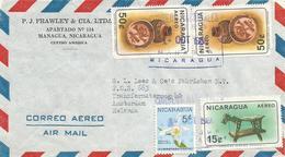 Nicaragua 1966 Managua Maya Artifacts Dog Pottery Vase Orchid Sobralia Luteola Cover - Nicaragua