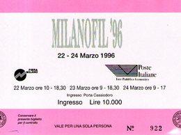 B 2165 - Biglietto D'ingresso, Milanofil 1996 - Tickets D'entrée