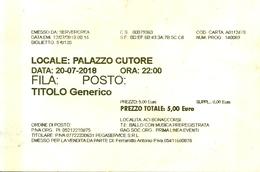 Biglietto D'Ingresso  PALAZZO CUTORE  -  Aci Bonaccorsi  -  Anno 2018 - Tickets D'entrée