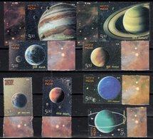 INDIA, 2018, MNH, ASTRONOMY, SOLAR SYSTEM, PLANETS, EARTH, VENUS, MARS, SATURN, NEPTUNE, JUPITER, URANUS, MERCURY,8v - Astronomy