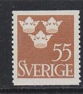 SCHWEDEN SWEDEN SUEDE 1948  MI 335 MNH DREI KRONEN THREE CROWNS TROIS COURONNES - Unused Stamps