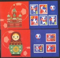 THAILAND, 2018, MNH, SOCCER, FOOTBALL, FIFA RUSSIA WORLD CUP, 2 BOOKLETS - 2018 – Russia