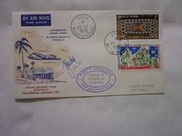 Lot De 7 Lettres Par Avion Experimental Airmail Flight W.samoa.wallis Is.futuna Is Signées - Covers & Documents
