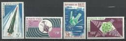 """Hte-Volta Aerien YT 36 à 39 (PA) """" Satellites Français """" 1967 Neuf** - Alto Volta (1958-1984)"""