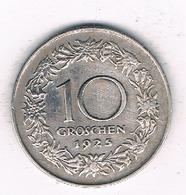 10 GROSCHEN  1925 OOSTENRIJK /6905/ - Austria