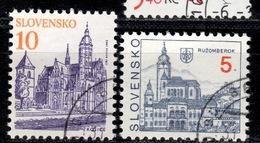 SK+ Slowakei 1993 Mi 164-65 Städte - Slovakia