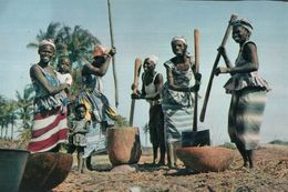 CARTE POSTALE D'AFRIQUE - GROUPE DE PILEUSES - L'AFRIQUE EN COULEURS - Postcards