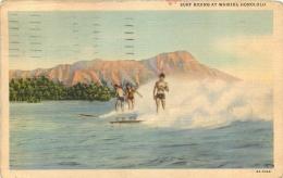 HONOLULU  SURF RIDING AT WAIKIKI - Honolulu