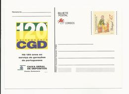 Postal Stationery * Portugal * Vendedora De Castanhas * 120 Aniversário CGD - Postal Stationery