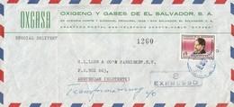 El Salvador 1967 Philosoph Humanist Gavidia Express Cover - El Salvador