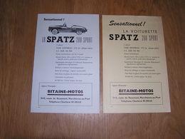 SPATZ 200 SPORT Voiture Automobile Agence Bitaine Motos à Marchienne Au Pont Ancienne Publicité 1956 1958 Pub Originale - Publicités