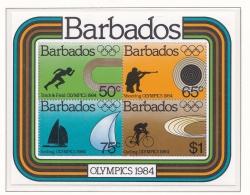 Barbados 1984 Los Angeles Olympic Games  Souvenir Sheet   MNH/**   (M12) - Summer 1984: Los Angeles