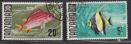 TANZANIA Scott # 32, 34 Used - Fish - Tanzania (1964-...)