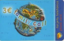 TARJETA TELEFONICA DE ESPAÑA, (PREPAGO). FAMILY CALL, 3E. (662) - Spain