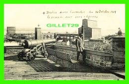 QUÉBEC - LES ÉLÉVATEURS DU PORT, VUE PRISE DES REMPARTS - ON BRULÉS LE 16 OCT 1909 - ANIMÉE - Québec - La Cité