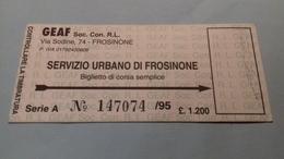 Servizio Urbano Di Frosinone - Bus
