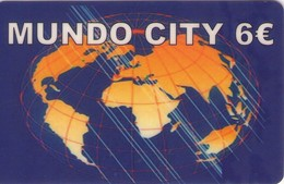 TARJETA TELEFONICA DE ESPAÑA, (PREPAGO). MUNDO CITY, 6E. PRE-ALF-0033 (663) - Spain
