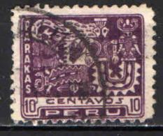 PERU' - 1932 - PARAKAS - 4° CENTENARIO DELLA CONQUISTA SPAGNOLA DEL PERU' - USATO - Peru