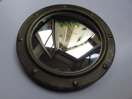Miroir Rond Ancien œil De Sorcière 26 Cm Style Marin - Forme De Hublot - Maritime Decoration
