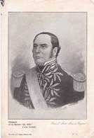 GENERAL JUSTO JOSE DE URQUIZA. LAMINA REVISTA EL SOL SIZE 27x18cm CIRCA 1900s SHEET PLANCHE- BLEUP - Posters