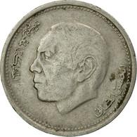 Monnaie, Maroc, Al-Hassan II, 1/2 Dirham, 1987/AH1407, Paris, TB, Copper-nickel - Maroc