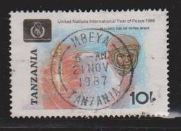 TANZANIA Scott # 353 Used - UN Year Of Peace - Tanzanie (1964-...)