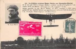 Aviation. N° 47959 . Roger Morin Sur Monoplan Bleriot . Vignette - Aviateurs