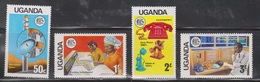 UGANDA Scott # 147-50 MNH - Telecommunications - Oeganda (1962-...)
