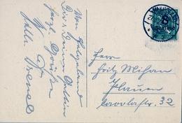 """1923 , ALEMANIA , TARJETA POSTAL CIRCULADA , HELGOLAND , """" INSEL HELGOLAND VON NORDEN AUS """" - Deutschland"""